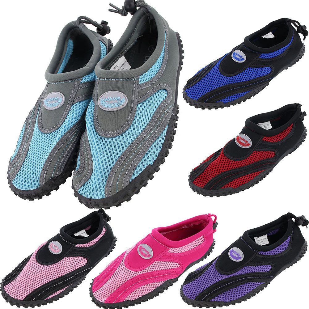 Womens Water Shoes Aqua Socks Yoga Exercise Pool Beach Dance Swim Slip On Surf #DS #WaterShoes