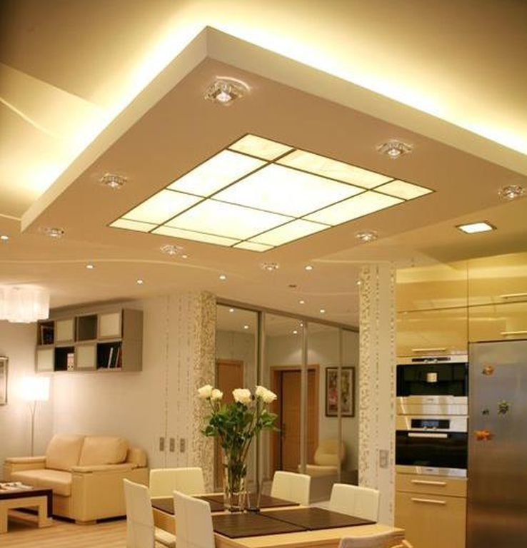 16 Cool Ceiling Designs For Every Room Of Your Home Meggiehome Ceiling Design Modern False Ceiling Design Kitchen Ceiling Lights