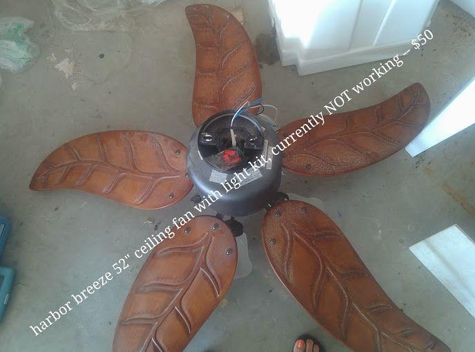 Harbor Breeze 52 Ceiling Fan With Light Ceiling Fan Yard Sale