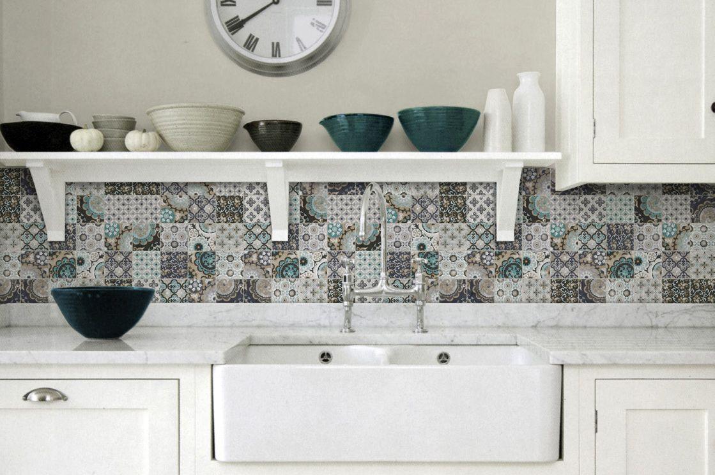 Top 15 patchwork tile backsplash designs for kitchen patchwork artistic tile country kitchen patchwork backsplash greeng dailygadgetfo Gallery