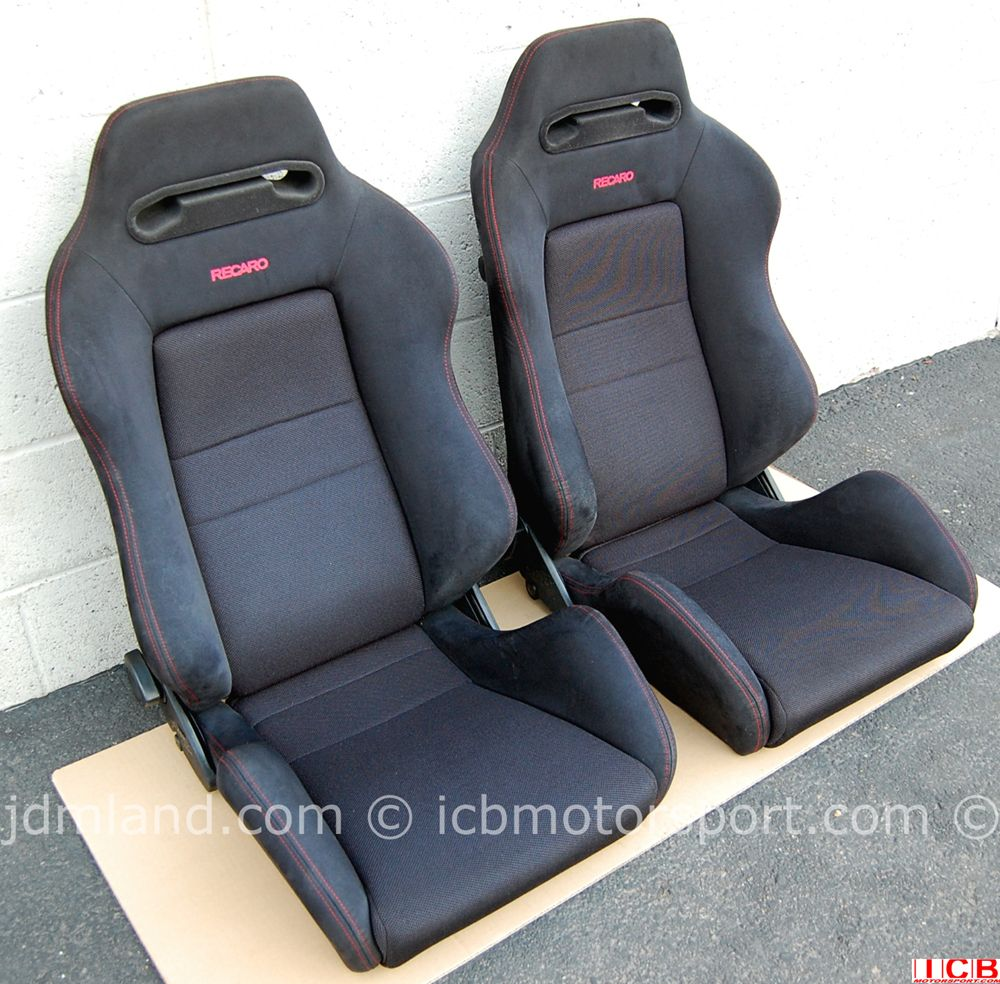 medium resolution of used honda dc2 integra type r black recaro seats