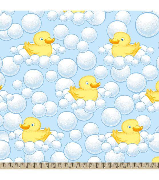 Nursery Fleece Fabric-Bubble Duckie