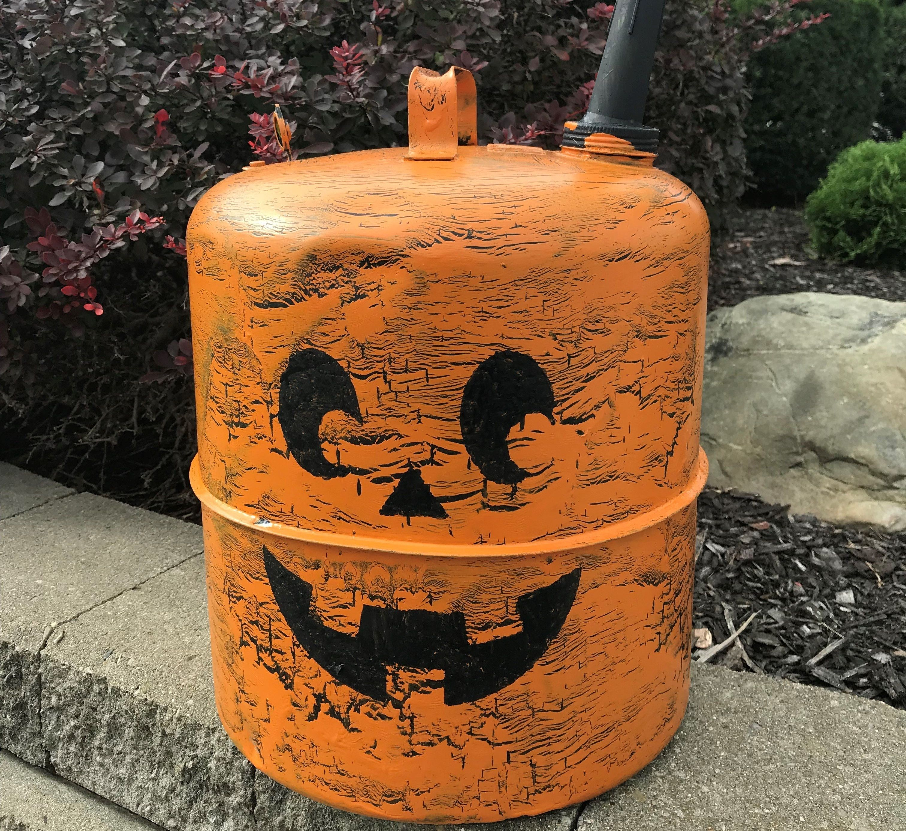 How To Make A Gas Can Jack O Lantern