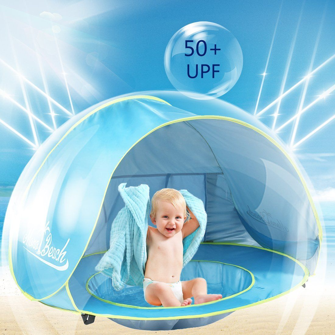 Amazon.com MonoBeach Baby Beach Tent Pop Up Portable Shade Pool UV Protection Sun  sc 1 st  Pinterest & Amazon.com: MonoBeach Baby Beach Tent Pop Up Portable Shade Pool ...