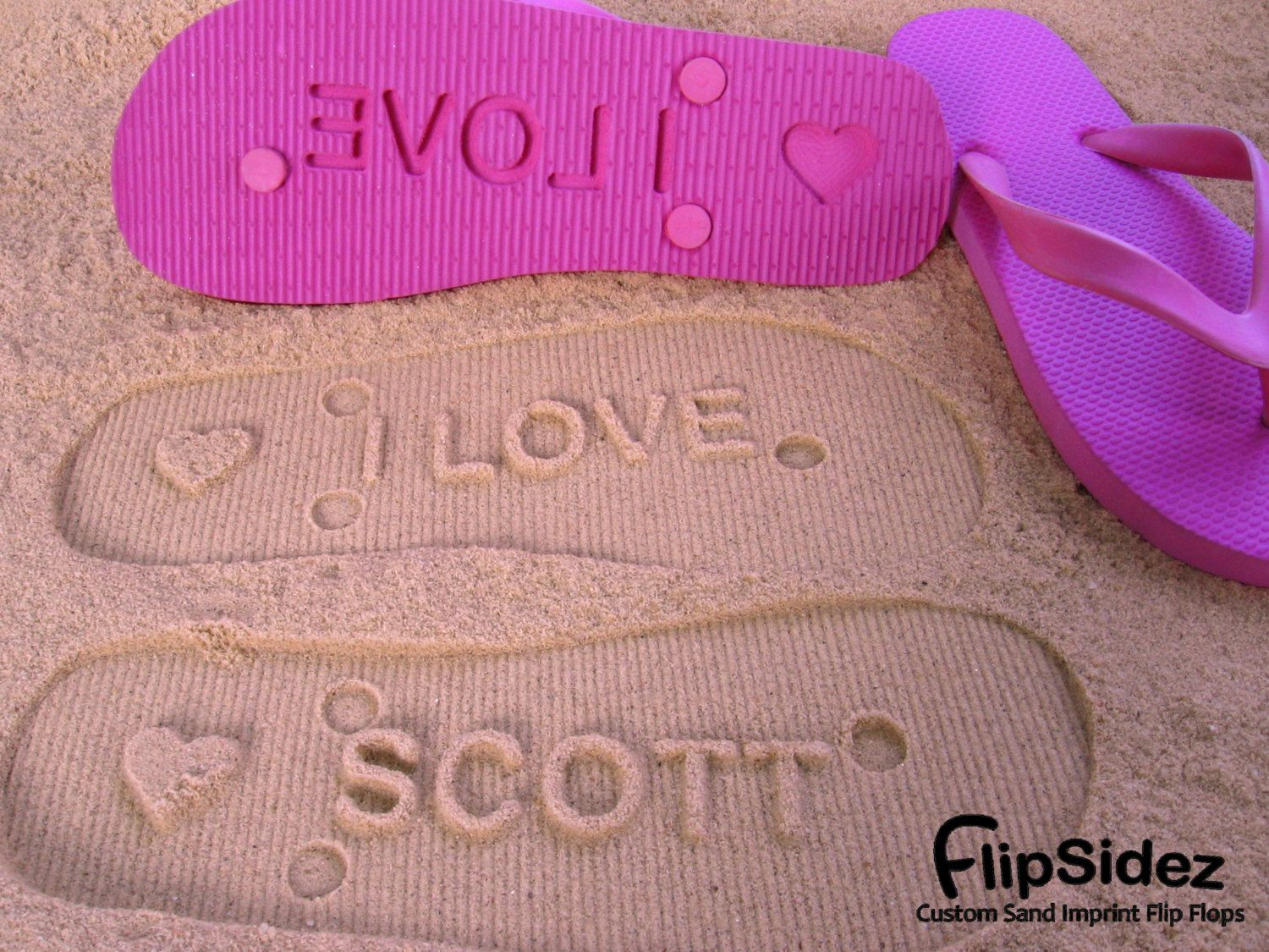 Personalized Flip Flops. Personalize With Your Sand Imprint Design ...