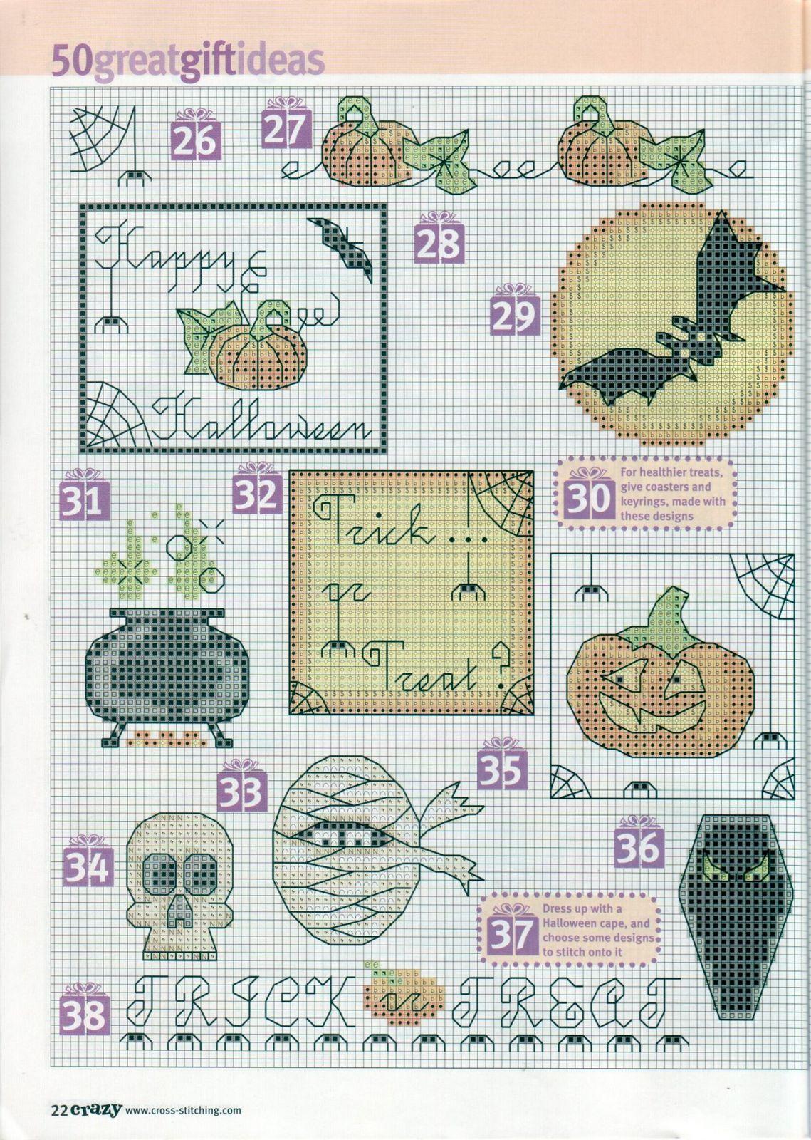 Halloween Cross stitch THREE | Embroidery animals | Pinterest ...