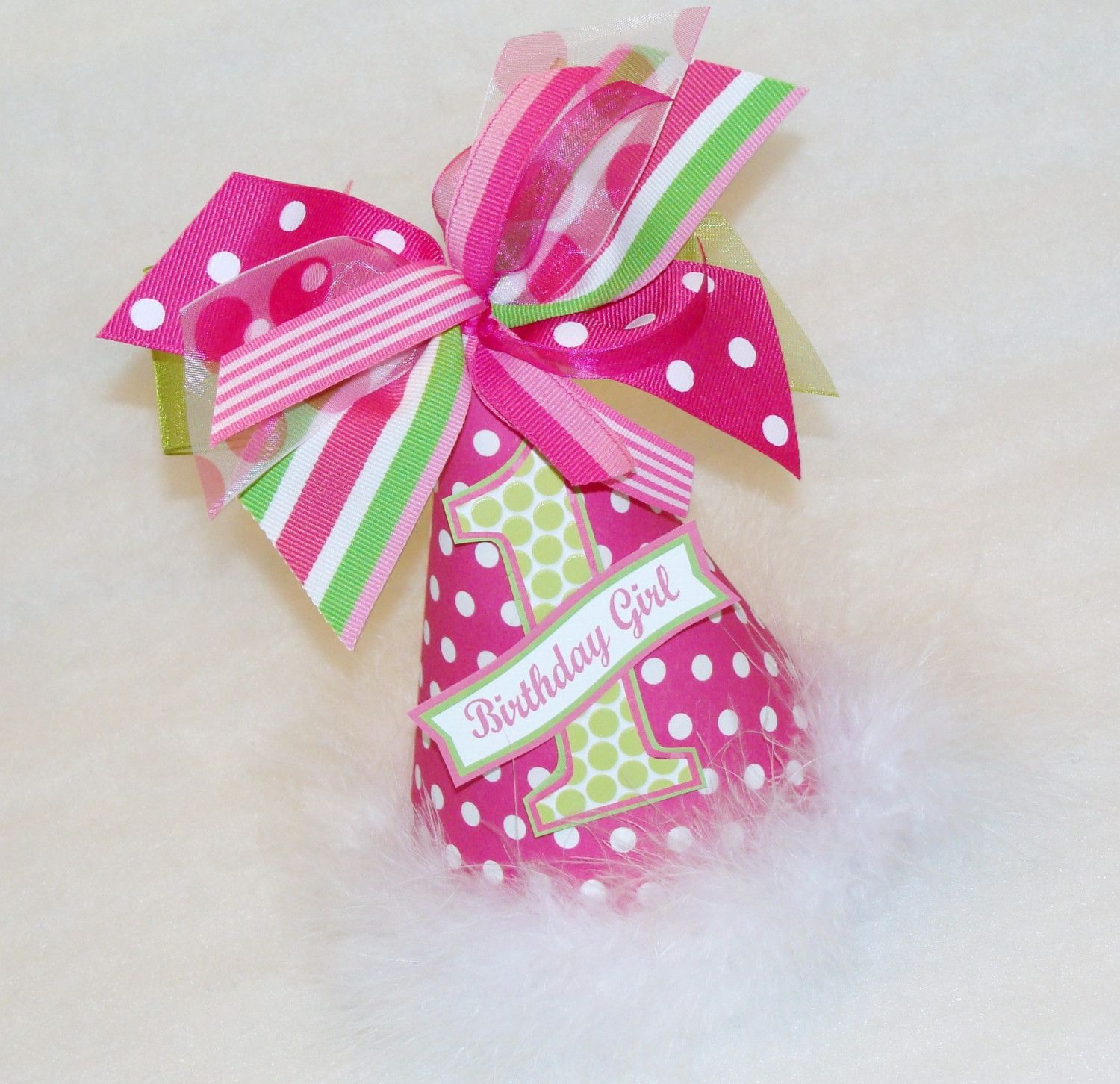 Hot Pink and Lime Green Party Hat   Green party, Birthdays and ...