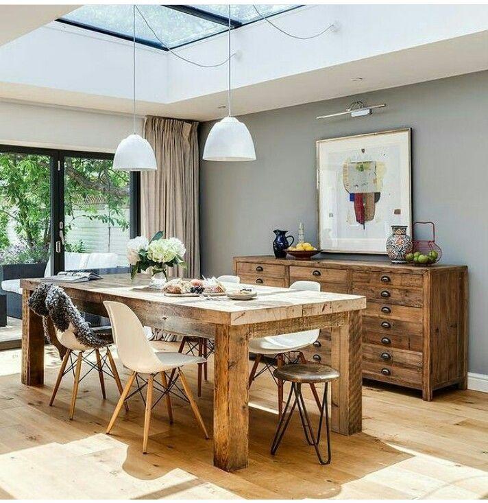 Pin de veronica ne en ideas para el hogar dining table for Proposito del comedor buffet