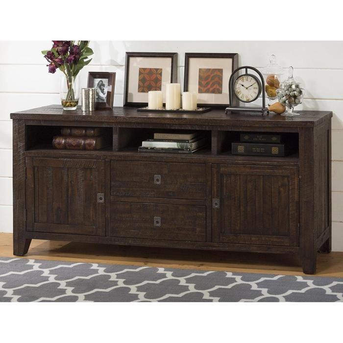 Kona Grove 70 Quot Media Unit In Dark Brown Nebraska Furniture Mart Solid Wood Tv Stand