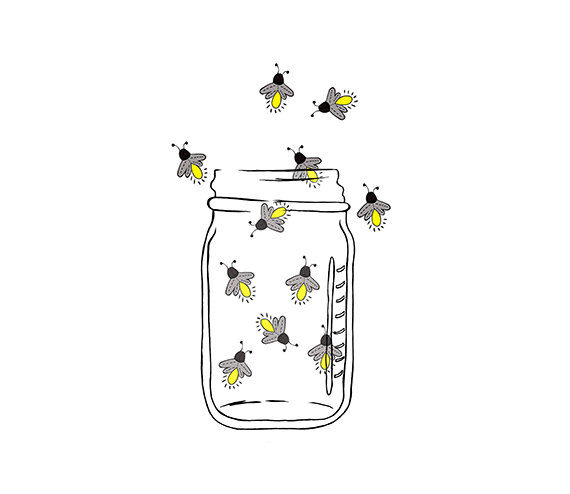 Mason Jar Image - Fireflies - Lightning bugs - Digital ...