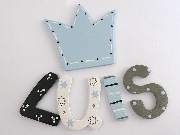 Holzbuchstaben für die Kinderzimmertüre Buchstaben wooden