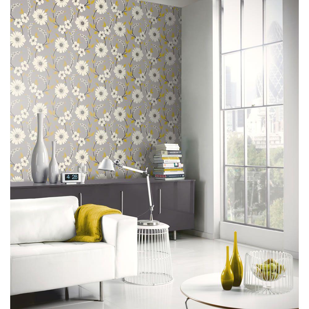 Arthouse Opera Wallpaper Stanzie Grey/Yellow 414200