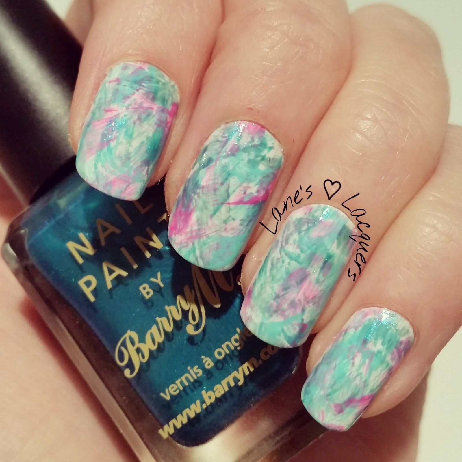 40-great-nail-art-ideas-teal-brush-stroke-nail-art (2) | красивый ...