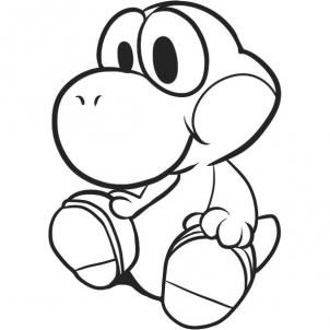 Draw Baby Yoshi Step By Step Drawing Sheets Added By Dawn October 27 2010 3 17 47 Pm Super Mario Coloring Pages Minion Coloring Pages Cool Coloring Pages