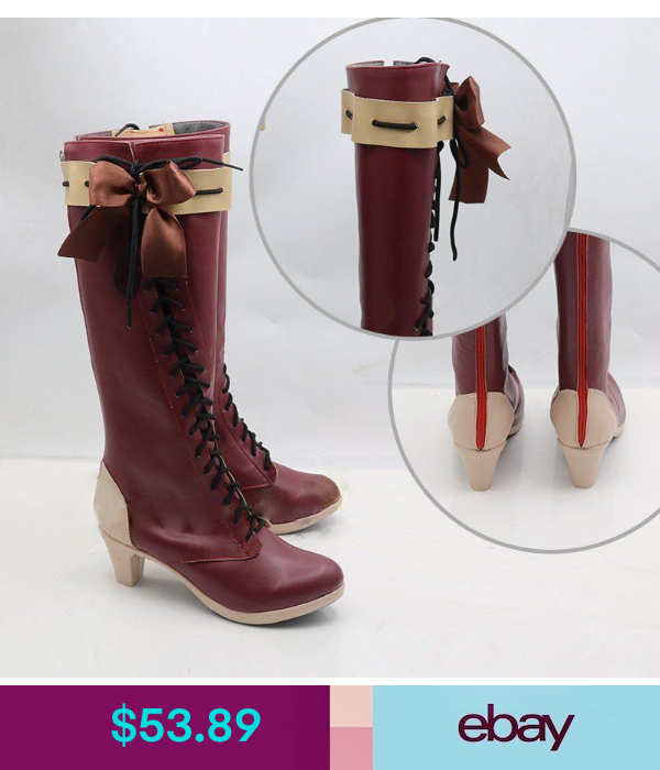 Anime Violet Evergarden Violet Red Boots Shoes Cosplay Costume Custom-made