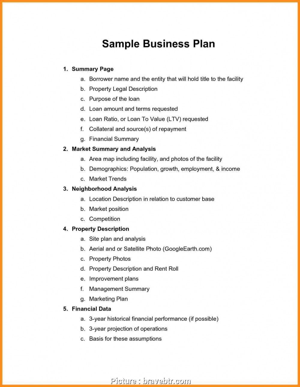 Free Business Plan Template Word Document Nonprofit Sample Within