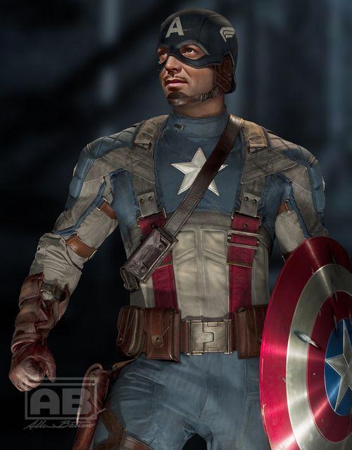 Clark Gable as Captain America. Lots of great classic star mash-ups.