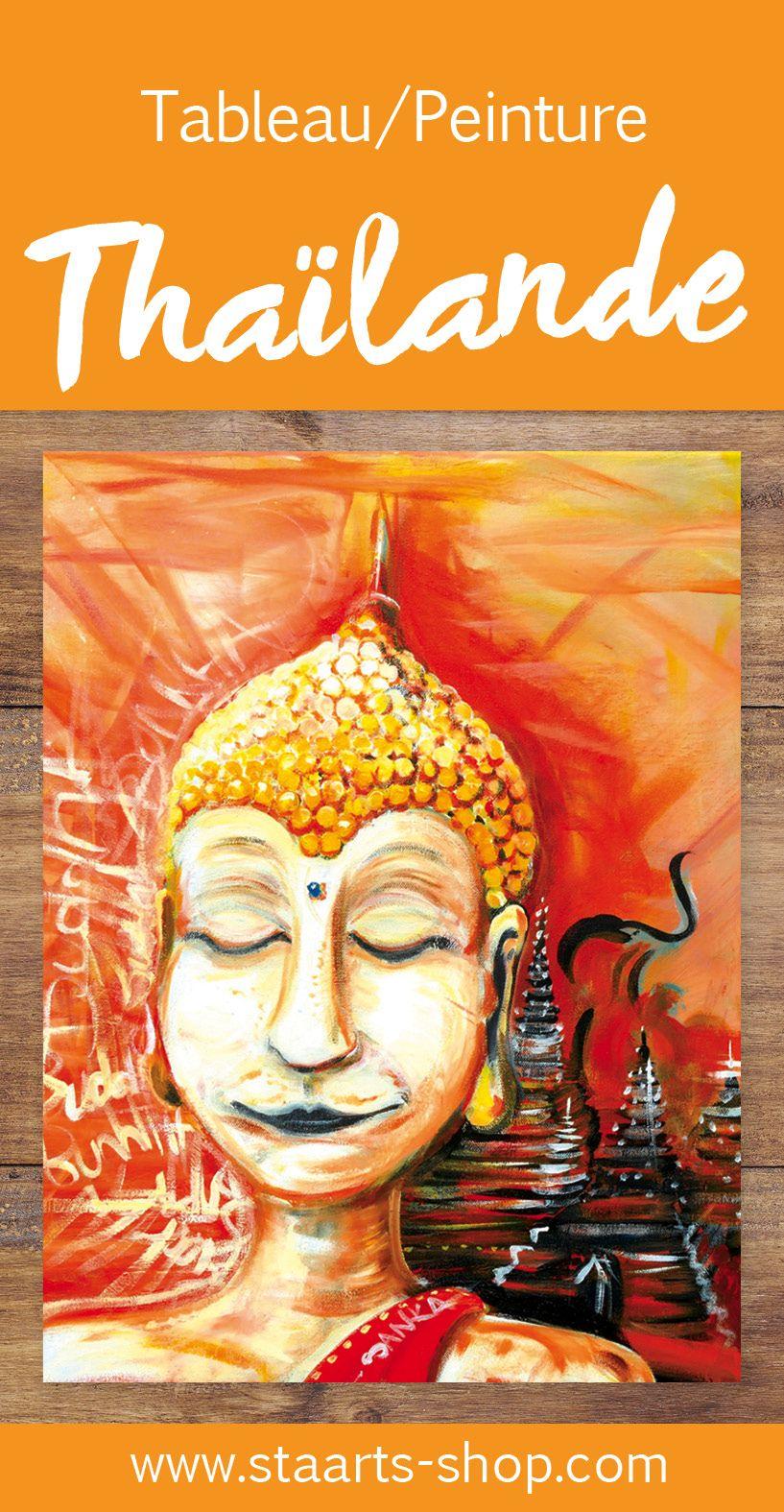 Tableau inspiré de notre voyage en Thaïlande!
