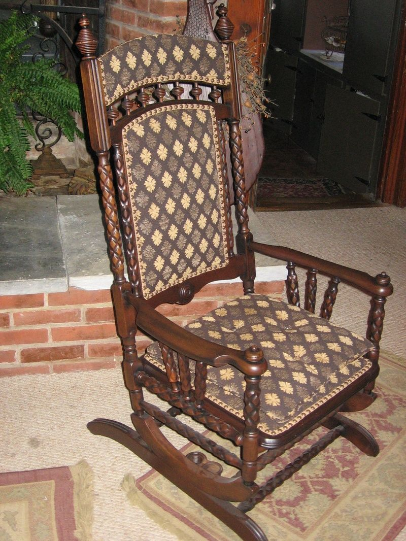 vintage platform rocking chair refinished with a heavy hanging rh pinterest com