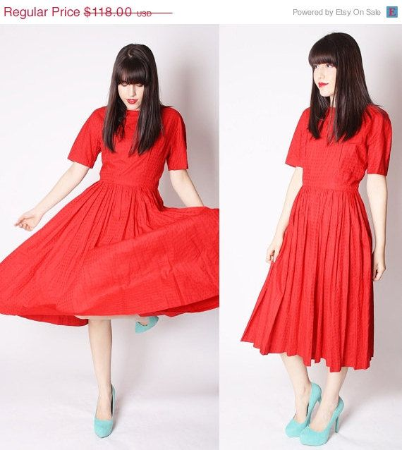 Love this red dress for Claudia