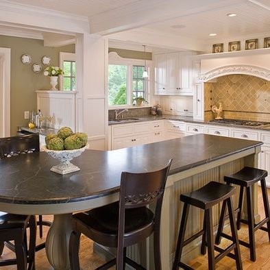 L Shaped Kitchen Island Design, Pictures, Remodel, Decor and Ideas