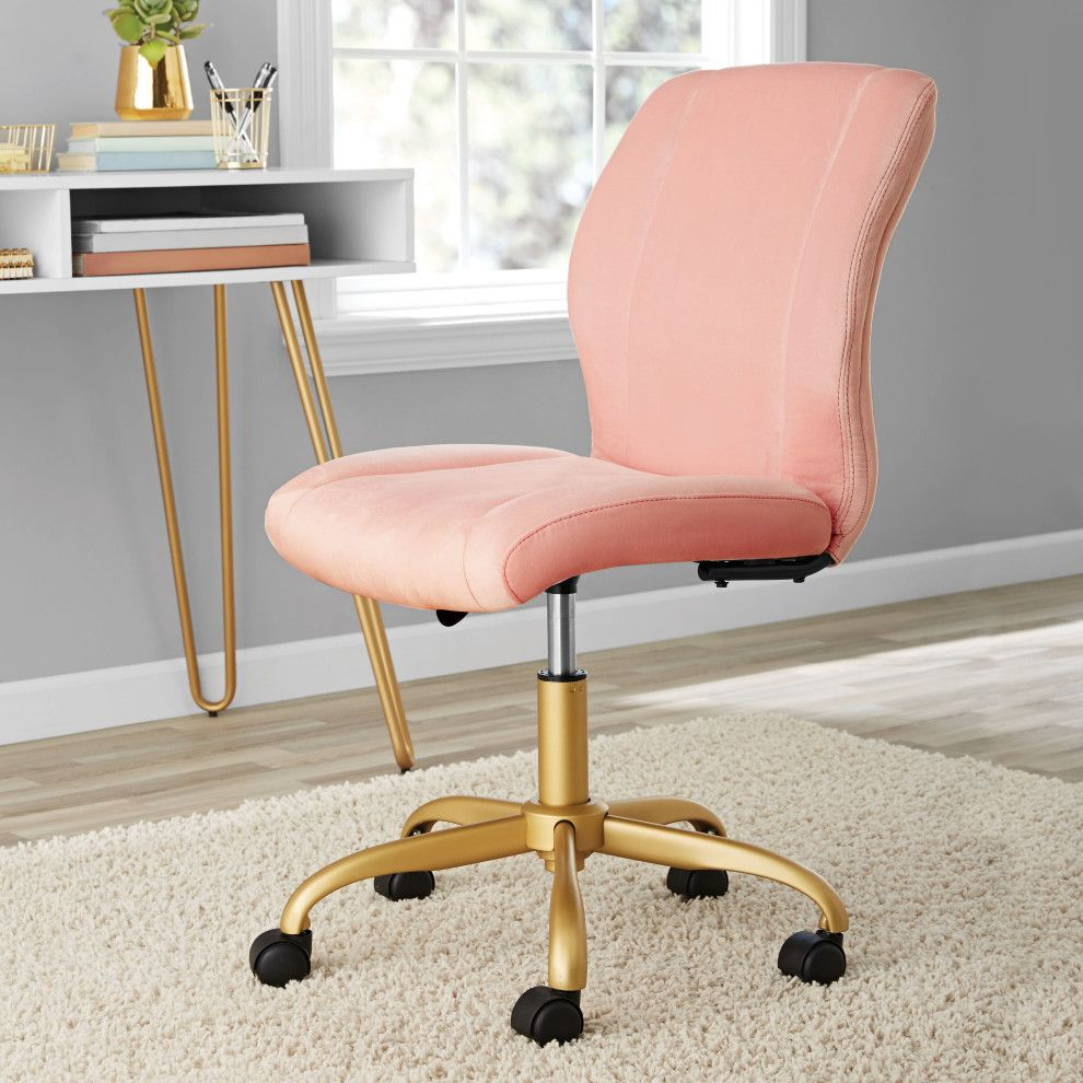 27 Things Under 50 From Walmart To Add To Your Dorm Room Pink Office Chair Velvet Office Chair Home Office Chairs