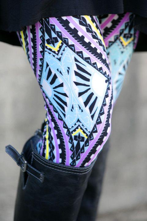 Watercolor Diamond Leggings