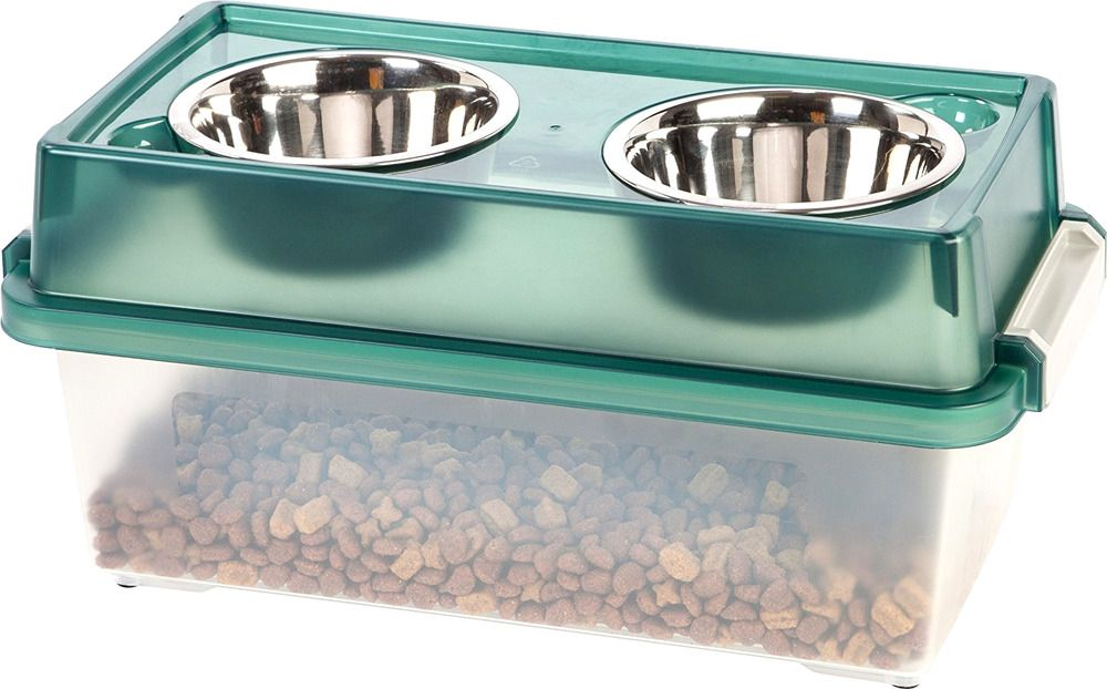 Iris Airtight Food Storage Container Elevated Dog Food Bowls Dog