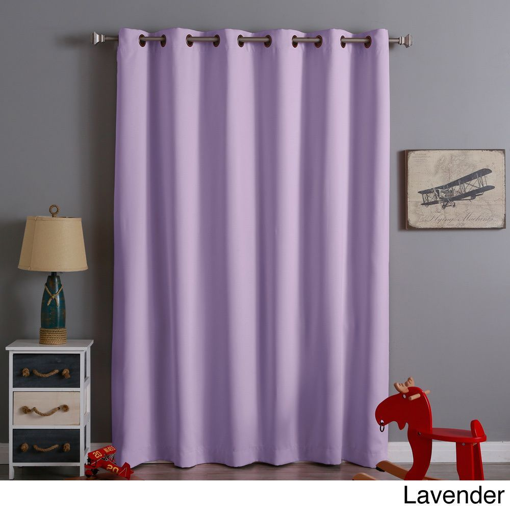 Aurora home wide width x inch thermal blackout curtain panel