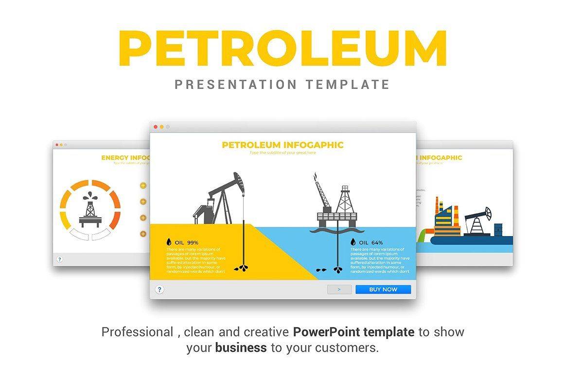 Petroleum PowerPoint Template #Fully#Icons#Fonts#Easy | Product