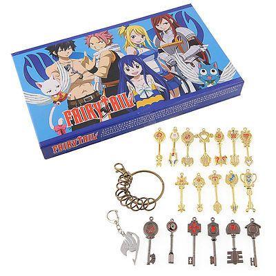 Japanese Anime Fairy Tail Lucy Celestial Spirit Gate Keys 18Pcs Necklace Pendant