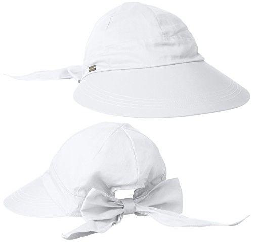 bf9c67b07 Betmar Women's Face Framer Sun Visor, White, One Size | Sun Hats ...