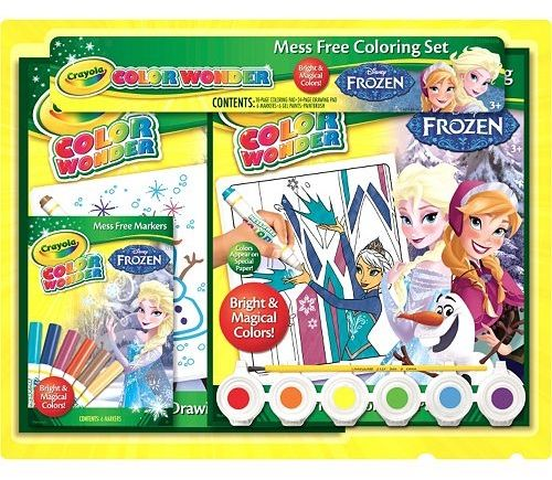 Disney Frozen Crayola Color Wonder Mess Free Coloring Set Color Wonder Disney Frozen Gift Free Coloring