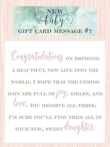 Baby Congratulation Note : congratulation, Printables, Congratulations, Message,, Messages