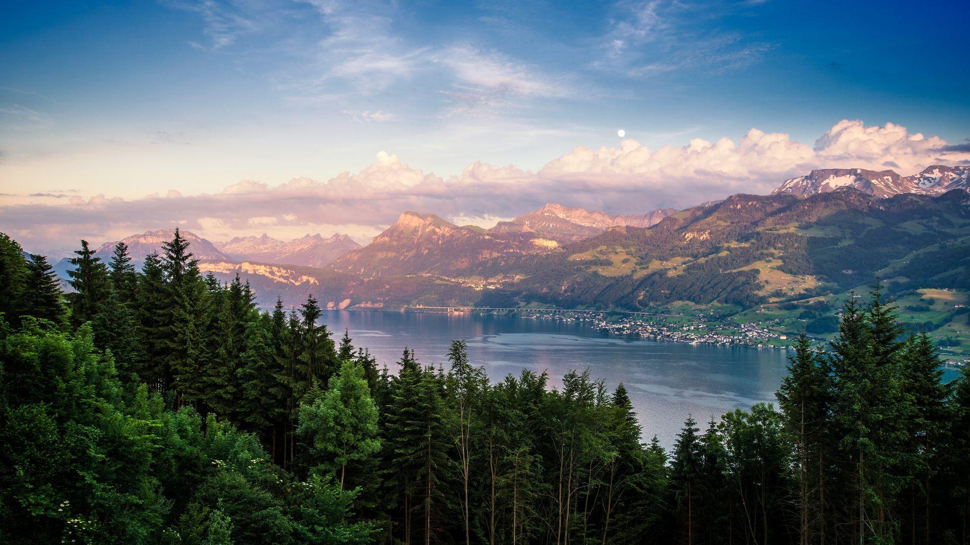 lake zurich landscape for 1920 x 1080 hdtv 1080p resolution a· landscape wallpapernature
