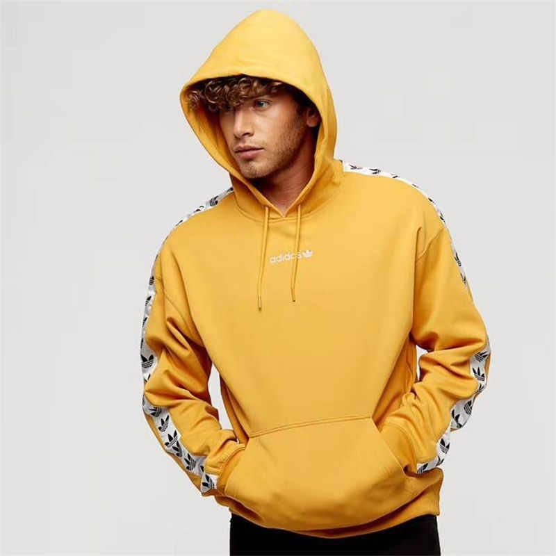 a3a7536f627 Authentic Mens adidas Originals Adicolor TNT Tape Hoodie In Yellow S-XL  BS4675