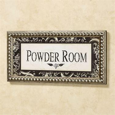 Powder Room Framed Wall Art Ivory Black Powder Room Old