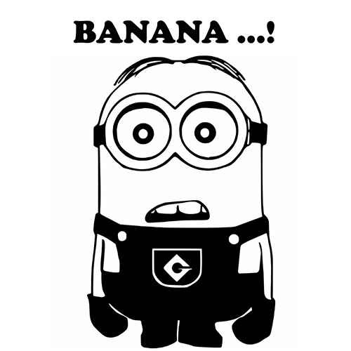 Despicable Me Minion Banana Laptop Car Truck Vinyl Decal Window - Minion custom vinyl decals for car
