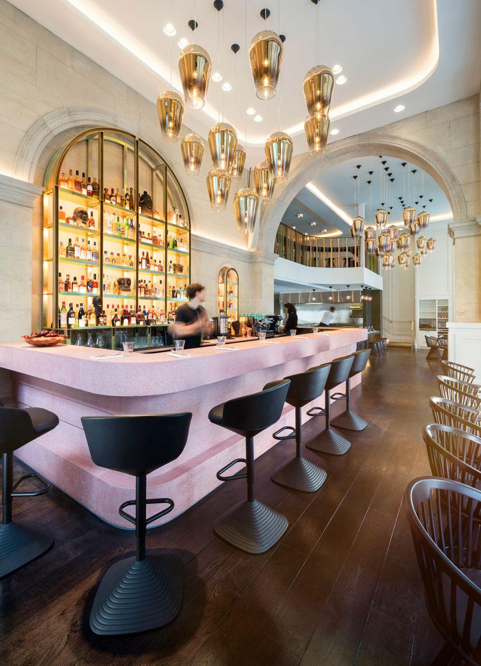 Bronte Restaurant Interiors By Tom Dixon Bar Design Wine Shelf  # Muebles Union Castellana
