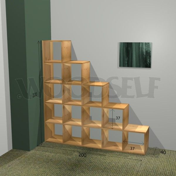Stair Bookcase cool for desktop organizer!! stair bookcase - woodworking plan
