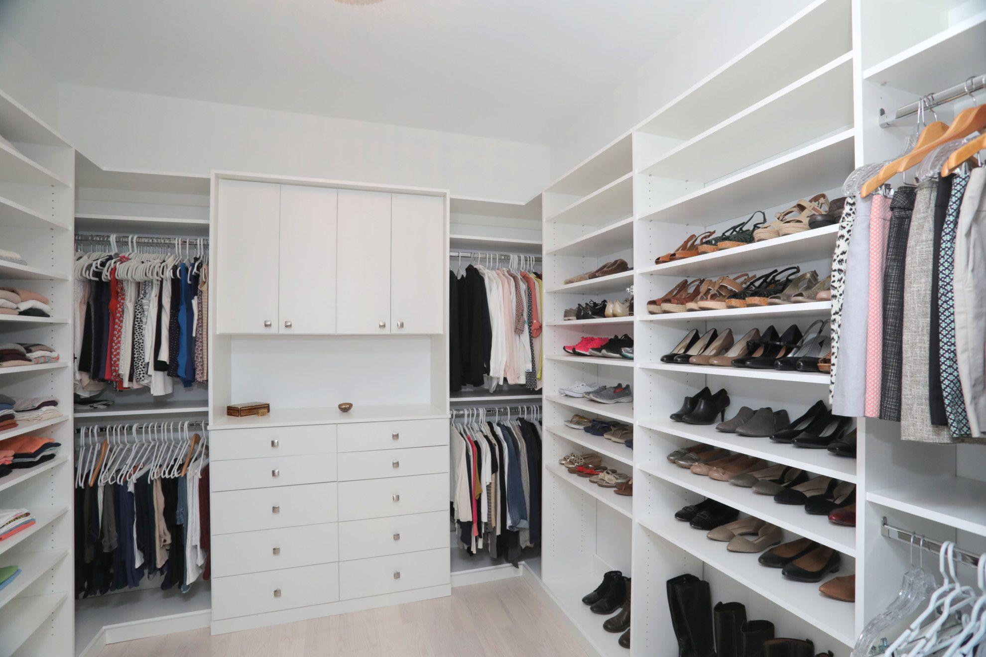 Custom Contemporary Master Closet Built By Devonshire Custom Homes Tampa.