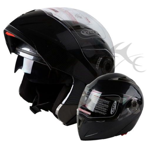 DOT Flip Up Modular Full Face Motorcycle Helmet Dual Visor Motocross+Headset NEW