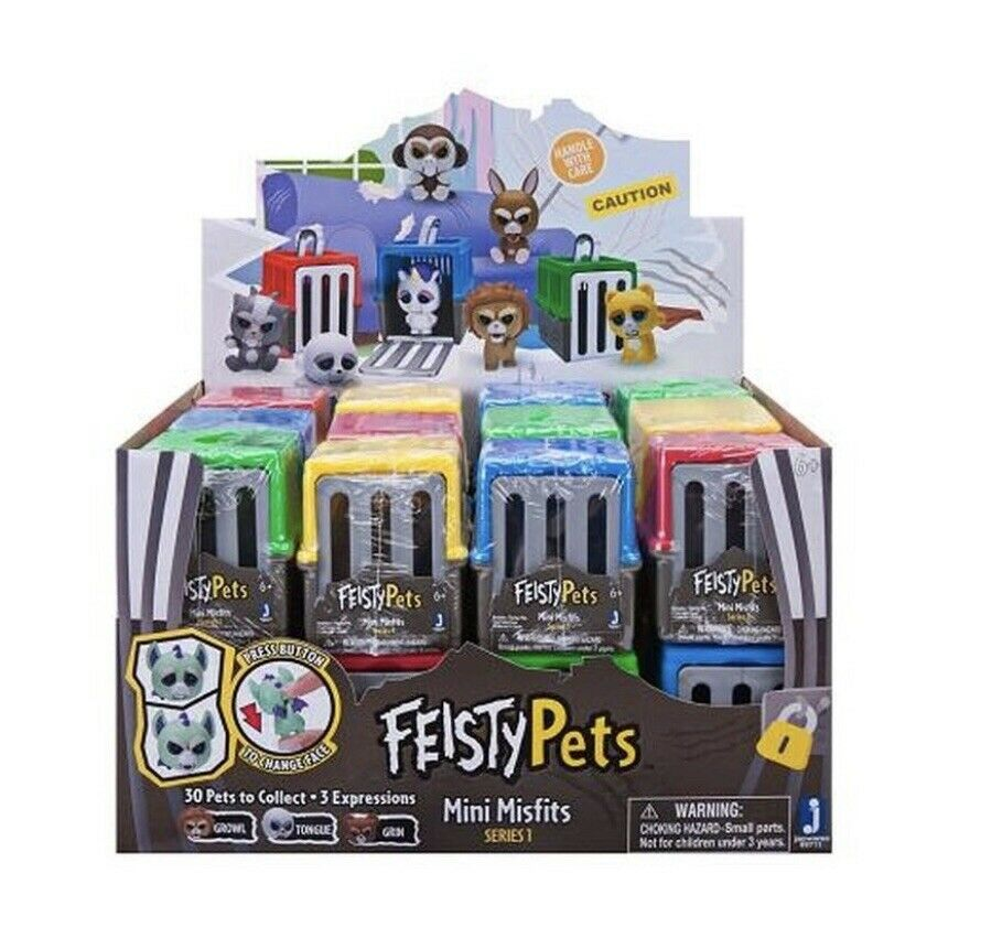 2 New Feisty Pets Mini Misfits Figures Series 1 Blind Bags Cages Easter Ebay Toys Uk Easter Toys Mini