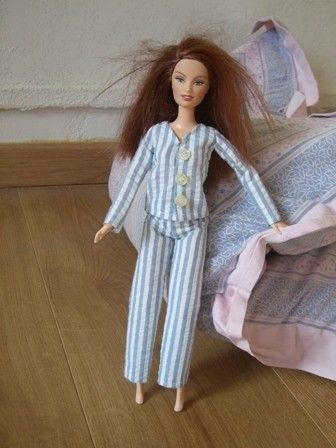 Pajamas for Barbie - tutorial with pattern | Barbie & Ken Patterns ...