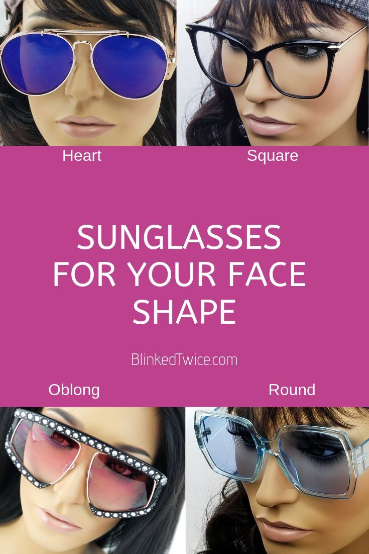 a0bf3cc40aa Choose the right trendy sunglasses for your face shape. Heart shaped faces  look cute in