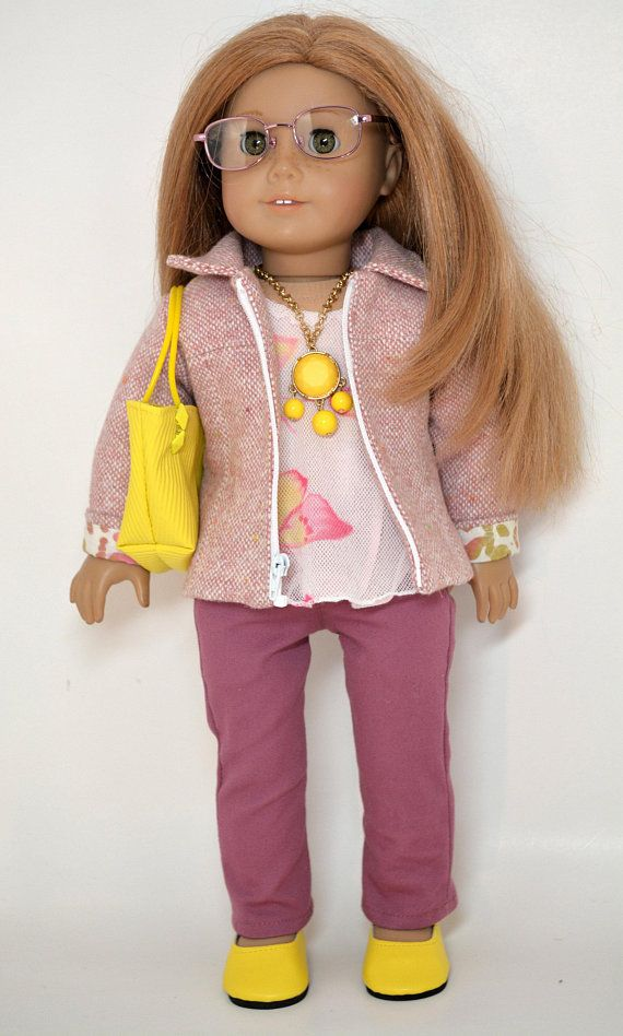18 Inch Doll Clothing Fits American Girl Doll 7 Piece Outfit