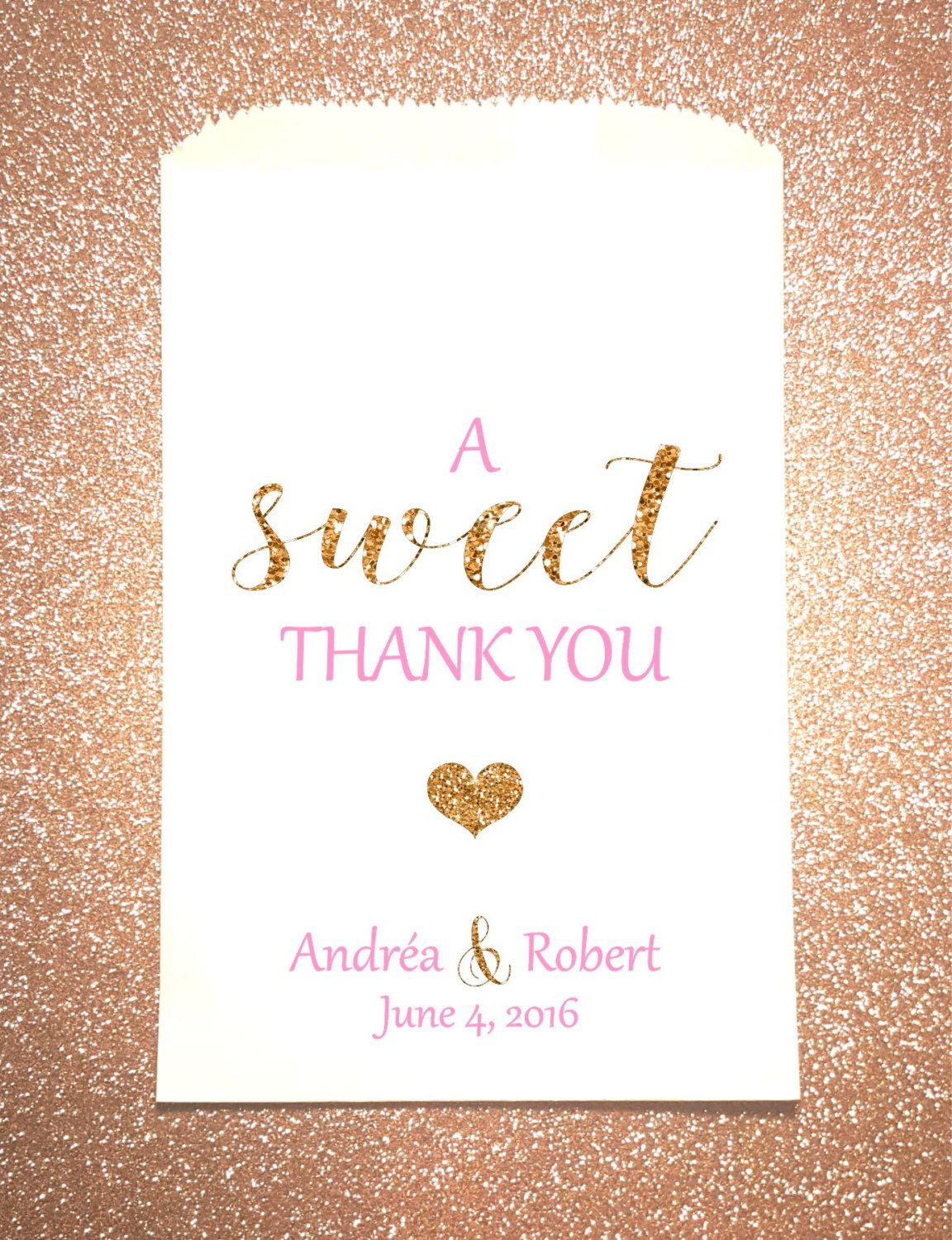 W5, A Sweet Thank You, Wedding, Candy Bag, Candy Buffet, Sweets ...