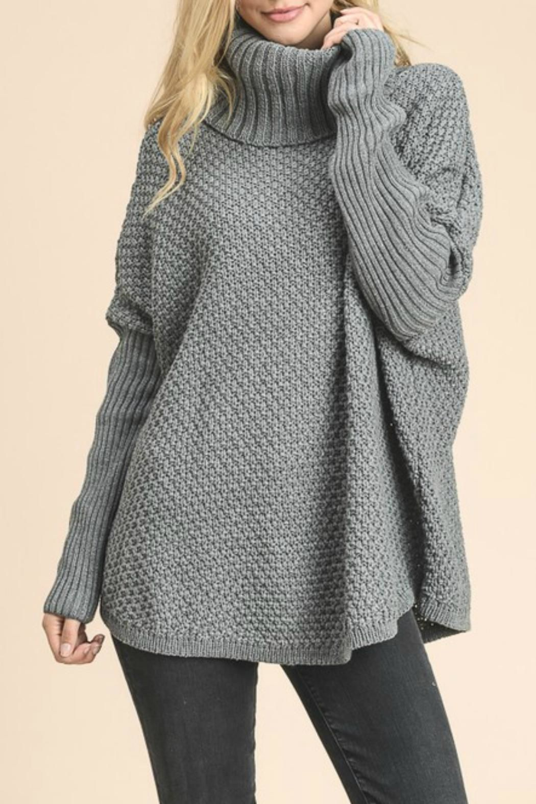Doe   Rae Gray Chunky Oversized Sweater   Tops   Pinterest ...