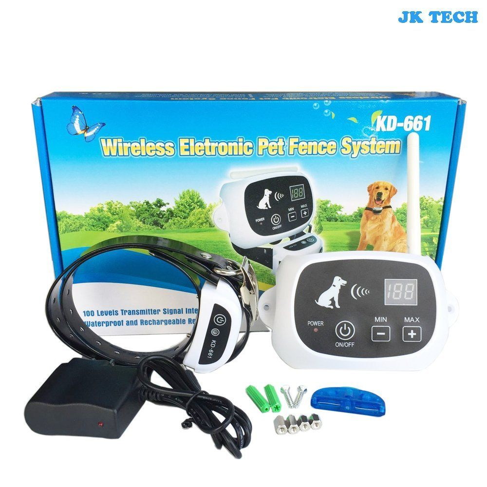 JK TECH Rechargeable Wireless Wifi Dog Fence Containment Sytem No Wire Bury Pet Fence with Waterproof Training Collar for Small Medium Large Dogs (For 1 Dog): Amazon.ca: Pet Supplies