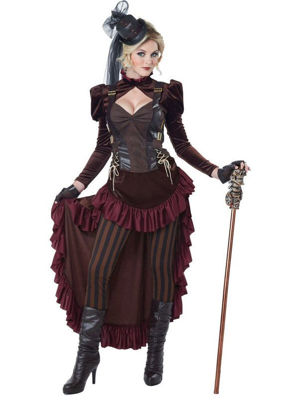 Check out Women's Sexy Victorian Steampunk Costume - Discount Steampunk Costumes for Adults from Costume Discounters